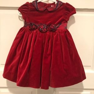 Janie & Jack Holiday Traditions Red Velvet Dress